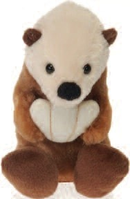 "Lil' Buddies Ozzie the Sea Otter Beanbag - 6"" - Fiesta - Plush Friends"