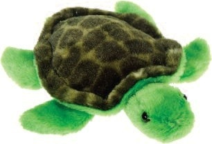 "Lil' Buddies Timmy the Stuffed Animal Turtle Beanbag - 6.5"" - Fiesta - Plush Friends"