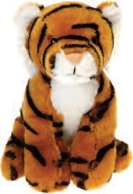 "Lil' Buddies Tina the Stuffed Tiger Beanbag - 6"" - Fiesta - Plush Friends"