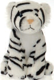 "Lil' Buddies Whinnie the Stuffed White Tiger Beanbag - 6"" - Fiesta - Plush Friends"