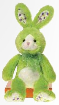 "Lime Green Easter Bunny Stuffed Animal - 14"" - Fiesta - Plush Friends"