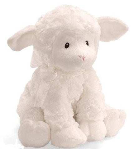 "Little Blessing Lena Plush Lamb Key Wind Musical - 10"" - Baby Gund - Plush Friends"