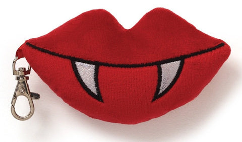 "Love Bites Lips Backpack Clip - 5"" - Gund - Plush Friends"