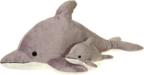 "Mama Plush Dolphin with Baby - 22"" - Fiesta - Plush Friends"
