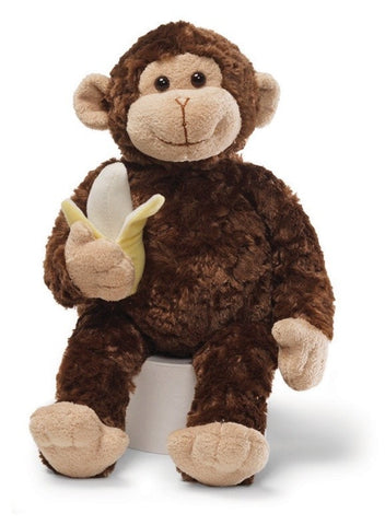 "Mambo the Monkey with Banana - 14"" - Gund - Plush Friends"