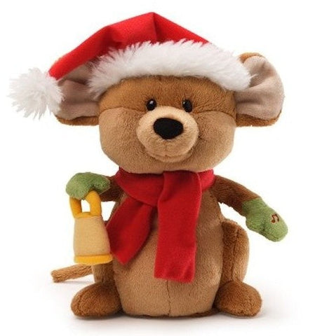 "Merry Mouse Singing Jingle Bells Plush Mouse - 9.5"" - Gund - Plush Friends"