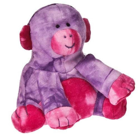 "Mod Squad Tie-dye Beanbag Monkey - 5"" - Mary Meyer - Plush Friends"
