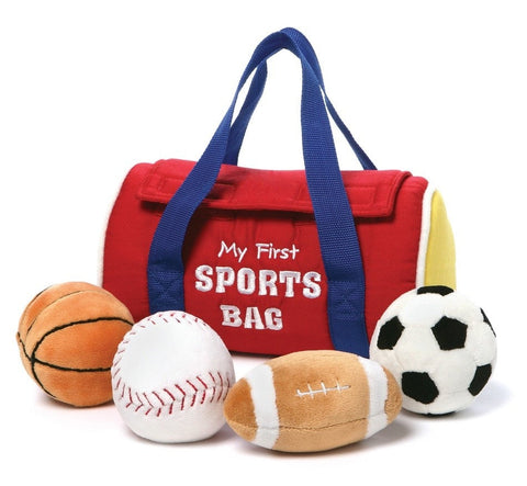 Baby Gund My First Sports Bag 5 Piece Playset - Plush Friends