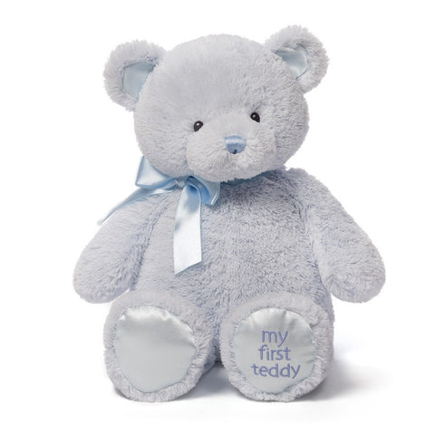 "My First Teddy Bear Blue Large - 18"" - Baby Gund - Plush Friends"