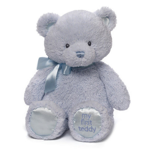"My First Teddy Bear Blue Medium - 15"" - Baby Gund - Plush Friends"