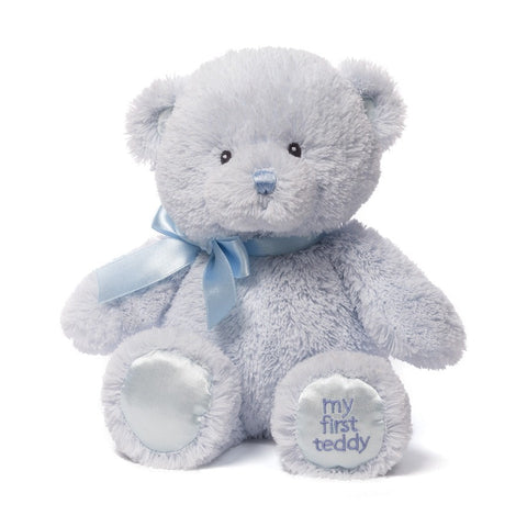 "My First Teddy Bear Blue Small - 10"" - Baby Gund - Plush Friends"