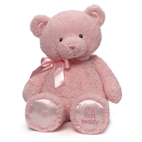"My First Teddy Bear Pink Large - 18"" - Baby Gund - Plush Friends"