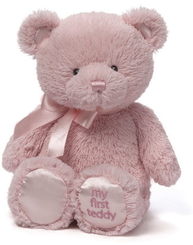 "My First Teddy Bear Pink Small - 10"" - Baby Gund - Plush Friends"