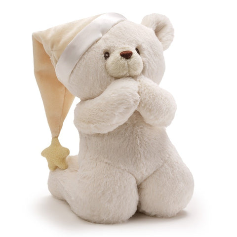 "Now I Lay Me Down to Sleep Talking Prayer Bear - 11"" - Baby Gund - Plush Friends"