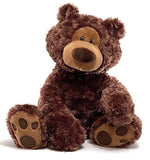 "Gund Philbin Large Chocolate Brown Teddy Bear - 18"" - Gund - Plush Friends"