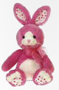 "Pink Easter Bunny Stuffed Animal - 14"" - Fiesta - Plush Friends"