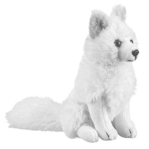 "Arctic Fox Stuffed Animal - 7"" - Wildlife Artists - Plush Friends"