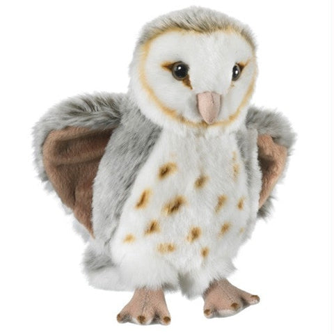 "Barn Owl Plush Owl - 7.5"" - Wildlife Artists - Plush Friends"