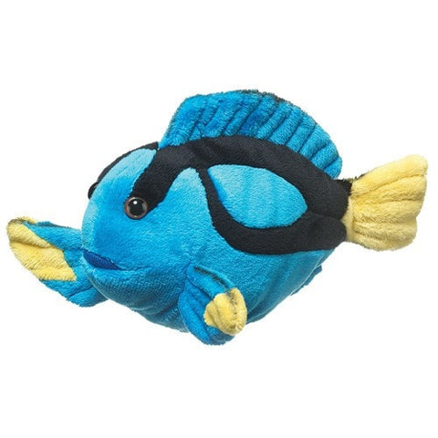 "Blue Tang Fish Stuffed Animal Small - 9"" - Wildlife Artists - Plush Friends"