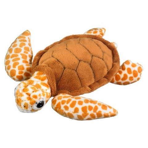 "Loggerhead Sea Turtle Plush - 9"" - Wildlife Artists - Plush Friends"