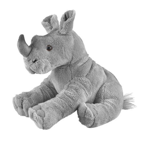 "Stuffed Rhinoceros - 7"" - Wildlife Artists - Plush Friends"