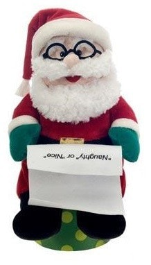 "Plush Sitting Santa Claus - 14"" - Fiesta - Plush Friends"