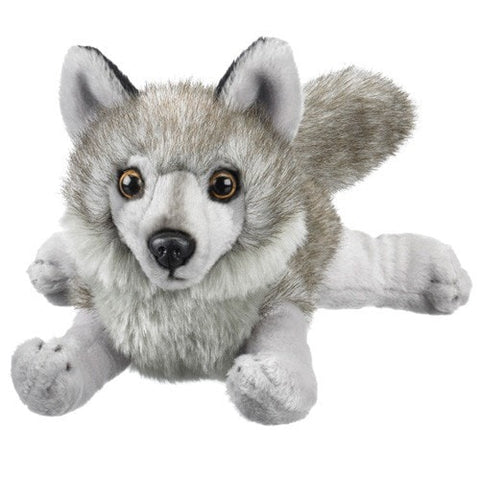 "Gray Wolf Stuffed Animal - 8.5"" - Wildlife Artists - Plush Friends"