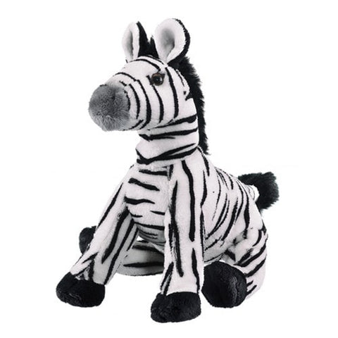 "Stuffed Animal Zebra - 9"" - Wildlife Artists - Plush Friends"