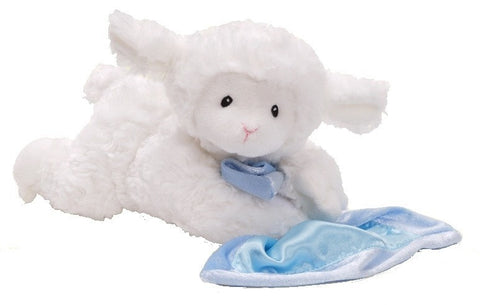 "Prayer Lena the Talking Lamb with Blue Blanket - 6.5"" - Baby Gund - Plush Friends"