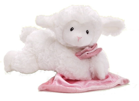 "Prayer Lena the Talking Lamb with Pink Blanket - 6.5"" - Baby Gund - Plush Friends"