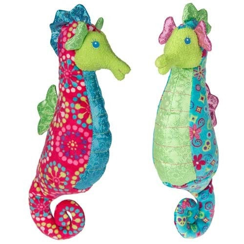 Print Pizzazz Coral Seahorse Stuffed Animal - 8