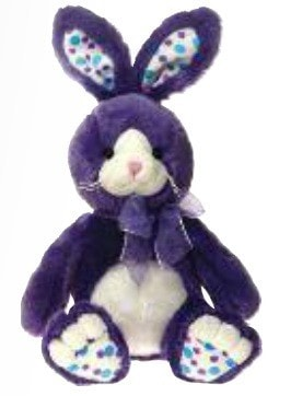 "Purple Easter Bunny Stuffed Animal - 14"" - Fiesta - Plush Friends"