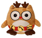"Reindeer Christmas Owl Stuffed Animal - 6.5"" - Fiesta - Plush Friends"