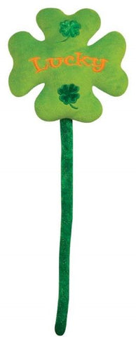 "Plush ""Lucky"" Four Leaf Clover with Bendable Stem - 16"" - Fiesta"