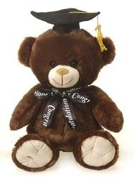 "Dark Brown Graduation Teddy Bear - 10"" - Fiesta"
