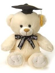 "Creme Graduation Teddy Bear - 10"" - Fiesta"