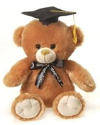 "Golden Brown Graduation Teddy Bear - 10"" - Fiesta"