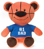 "Plush Basketball Bear wearing #1 Dad Shirt - 12"" - Fiesta"