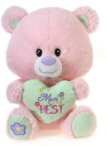 "Mother's Day ""Mom is the Best"" Pink Teddy Bear  - 11"" - Fiesta"
