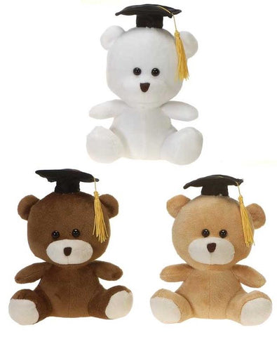 "Graduation Cap Teddy Bears - 7"" - Fiesta"