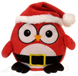 "Santa Claus Christmas Owl Stuffed Animal - 6.5"" - Fiesta - Plush Friends"