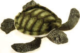 "Stuffed Sea Turtle Small - 8"" - Fiesta - Plush Friends"