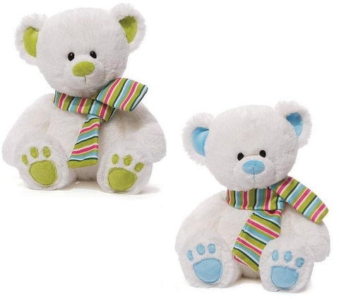 "Slopes the White Winter Teddy Bear - 12"" - Gund - Plush Friends"