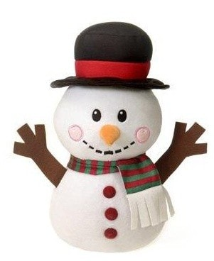 "Snowman Plush Toy - 12.5"" - Fiesta - Plush Friends"