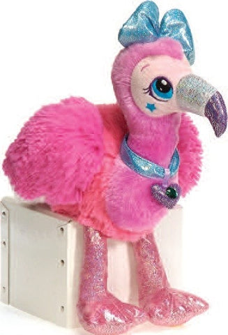 "Sparkle Starz Stella the Pink Flamingo Plush Toy - 8"" - Fiesta - Plush Friends"