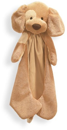 "Gund Spunky Huggybuddy Dog Brown Blanket - 15"" - Baby Gund - Plush Friends"