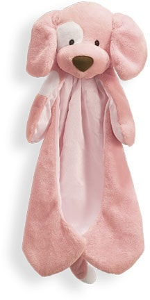 "Gund Spunky Huggybuddy Dog Pink Blanket - 15"" - Baby Gund - Plush Friends"