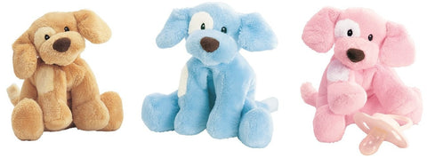 "Spunky the Baby Gund Dog Rattles - 4"" - Baby Gund - Plush Friends"