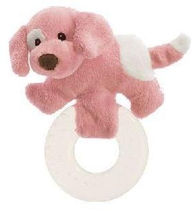 "Spunky the Dog Teethers - 4.5"" - Baby Gund - Plush Friends"