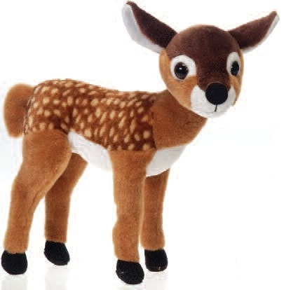 "Standing Fawn Stuffed Animal - 10"" - Fiesta - Plush Friends"